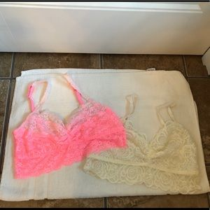 NWOT LARGE PINK BY VS BRALETTES